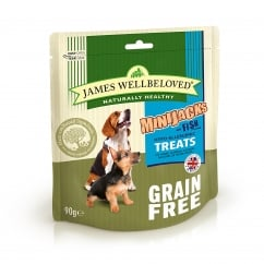 James Wellbeloved Grain Free Minijacks Fish Dog Treat 90g