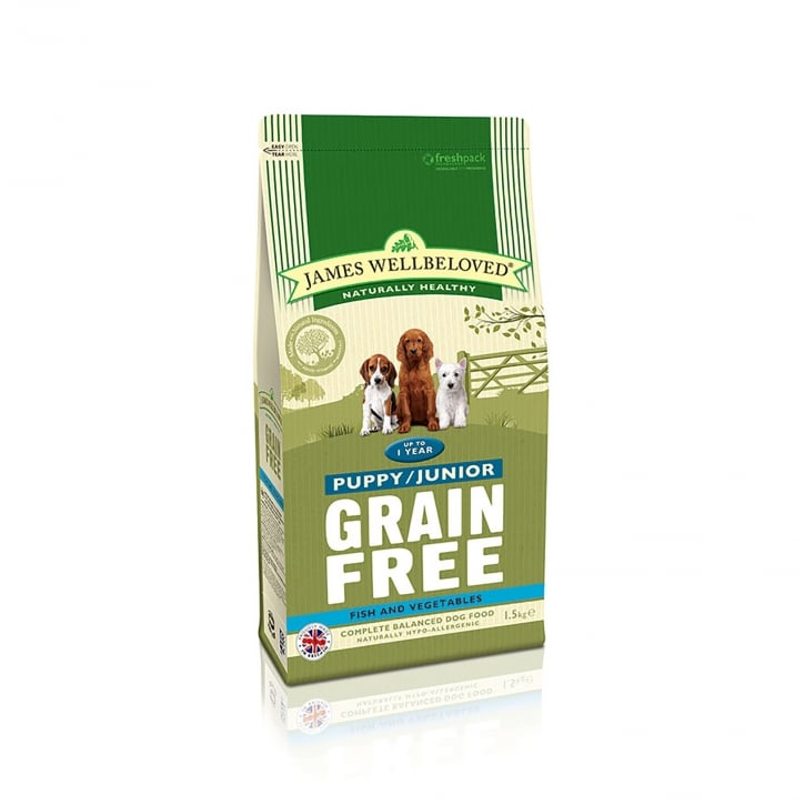 James Wellbeloved Grain Free Puppy/Junior Fish & Vegetable Dog Food 1.5kg