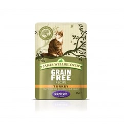 Grain Free Senior Turkey Cat Pouch 12 x 85g