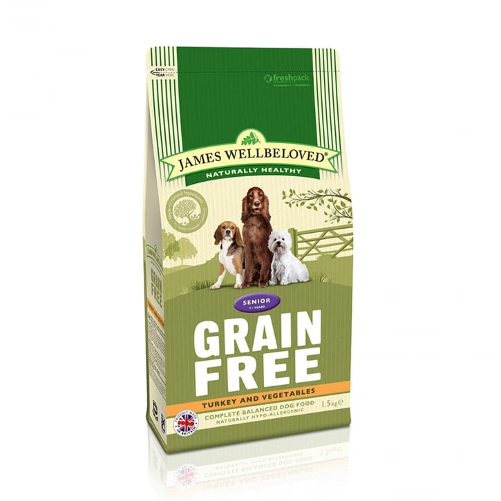 James Wellbeloved Grain Free Senior Turkey & Vegetable Dog Food 10kg