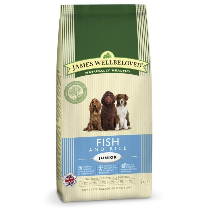 James Wellbeloved Junior Fish & Rice Dog Food 2kg