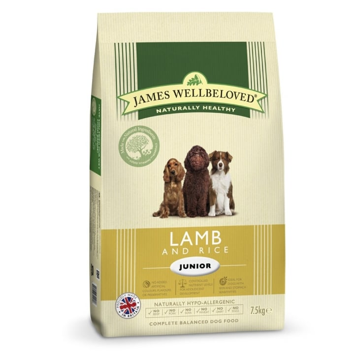 James Wellbeloved Junior Lamb & Rice Dog Food 7.5kg