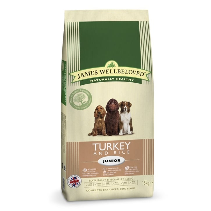 James Wellbeloved Junior Turkey & Rice Dog Food 15kg