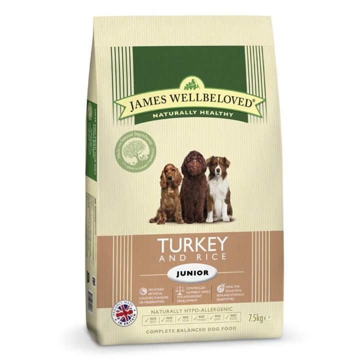 James Wellbeloved Junior Turkey & Rice Dog Food 7.5kg