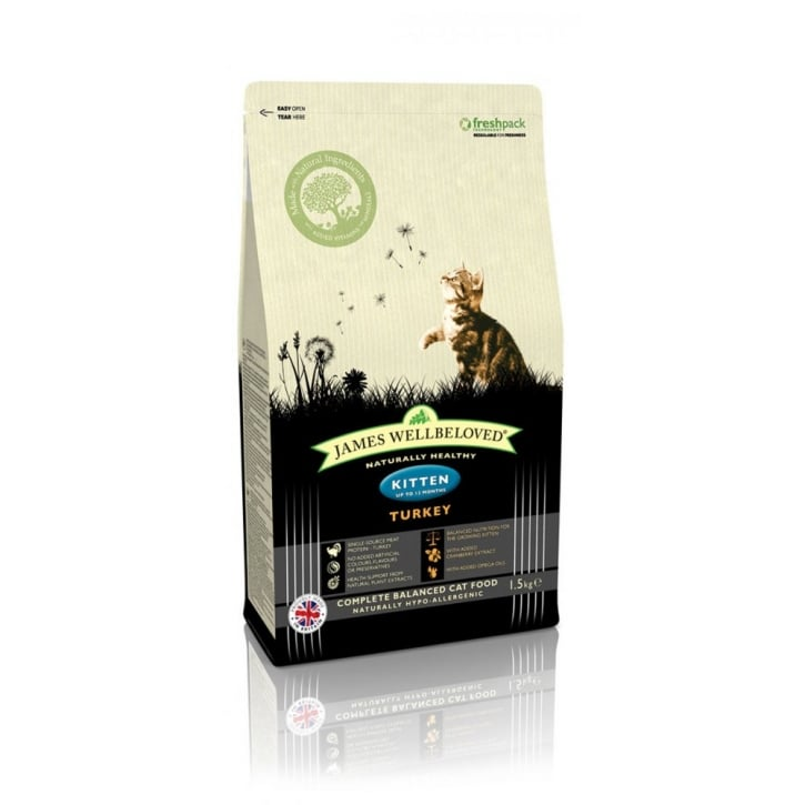 James Wellbeloved Kitten Turkey & Rice Cat Food 1.5kg