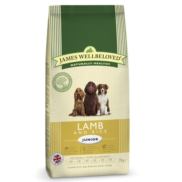 James Wellbeloved Lamb & Rice Junior Dog Food 2kg