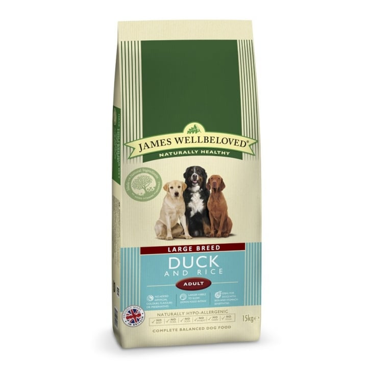 James Wellbeloved Large Breed Adult Duck & Rice Dog Food 15kg