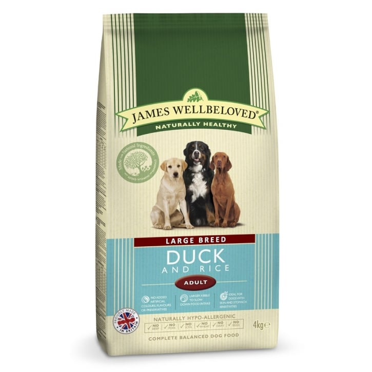 James Wellbeloved Large Breed Adult Duck & Rice Dog Food 4kg