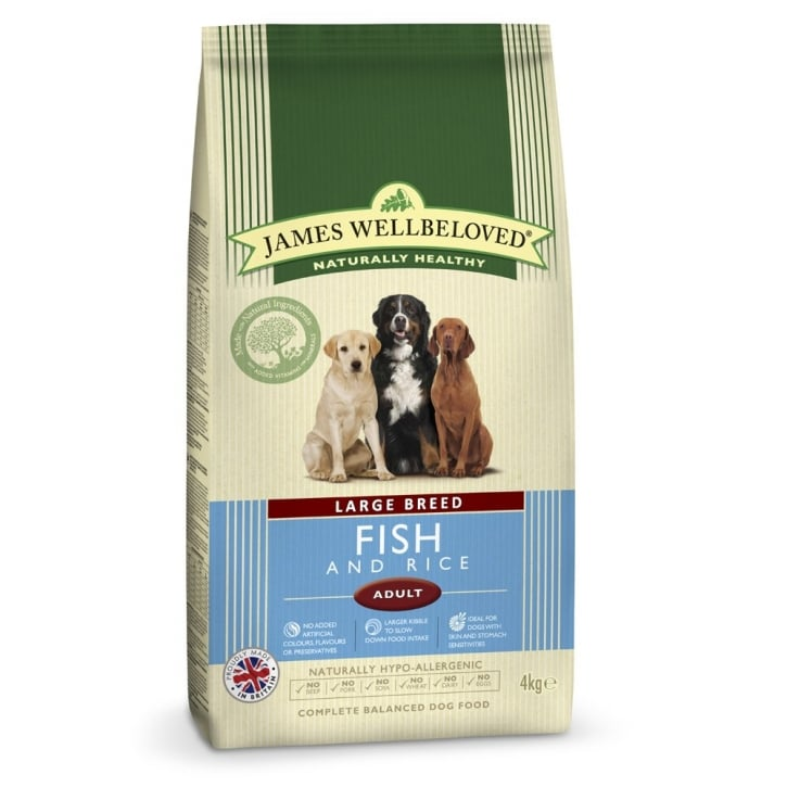 James Wellbeloved Large Breed Adult Fish & Rice Dog Food 4kg