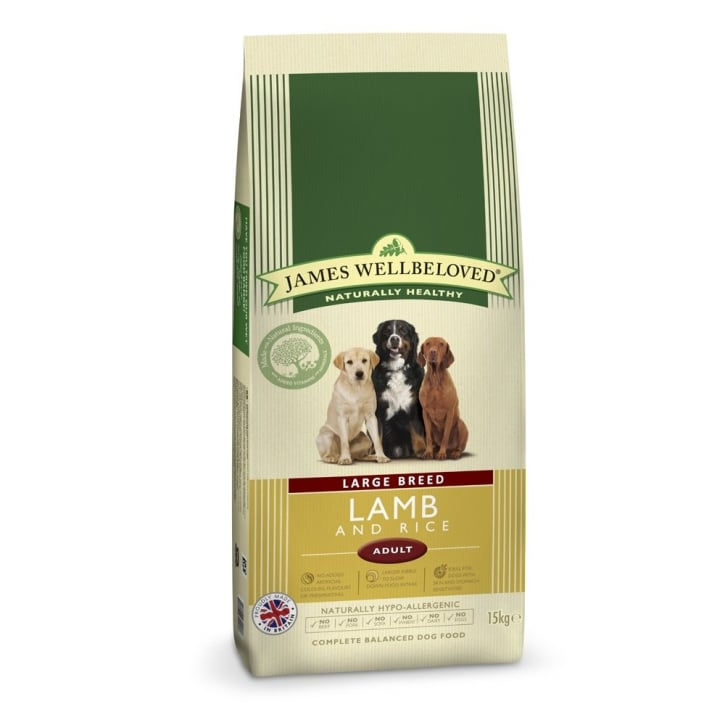 James Wellbeloved Large Breed Adult Lamb & Rice Dog Food 15kg