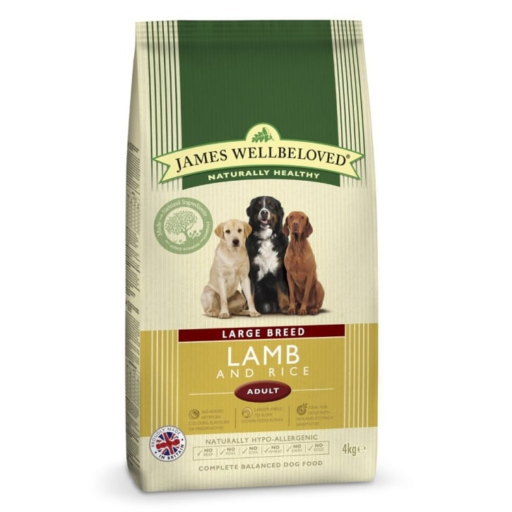 James Wellbeloved Large Breed Adult Lamb & Rice Dog Food 4kg