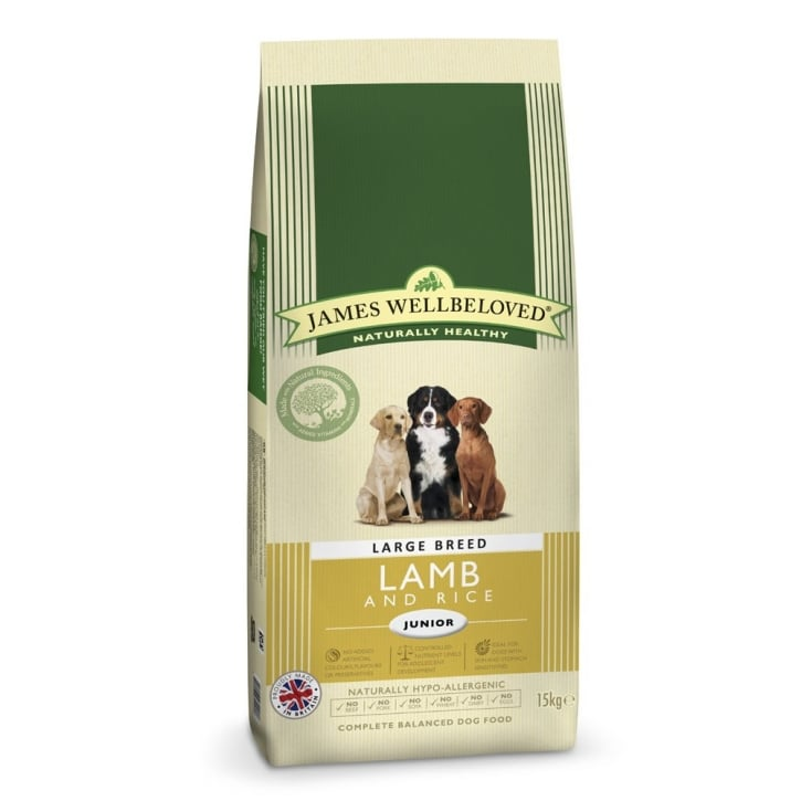 James Wellbeloved Large Breed Junior Lamb & Rice Dog Food 15kg