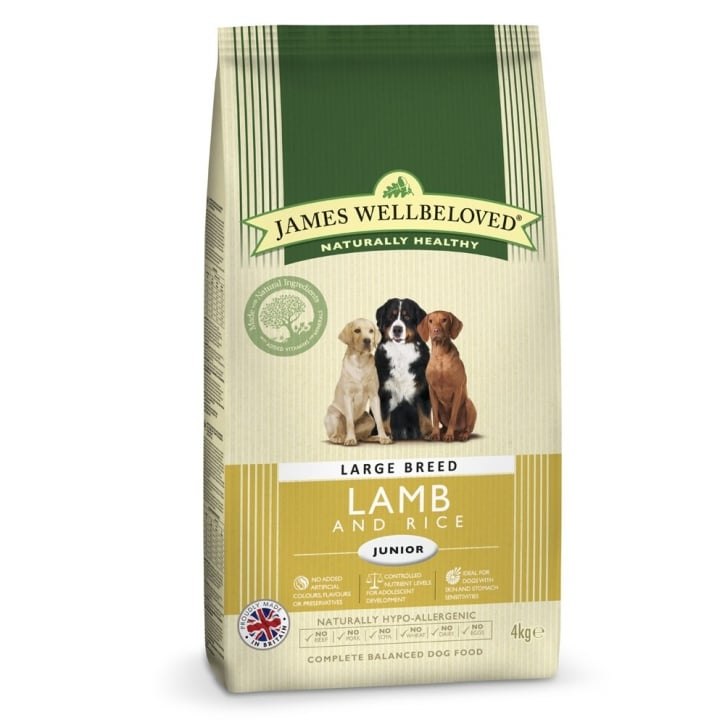 James Wellbeloved Large Breed Junior Lamb & Rice Dog Food 4kg