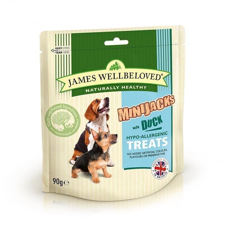 James Wellbeloved Mini Jacks Duck Dog Treat 90g