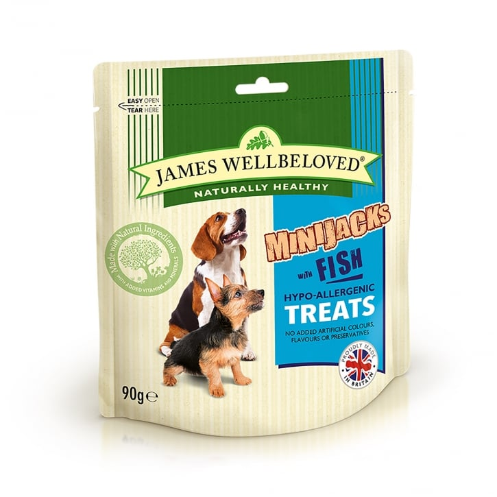 James Wellbeloved Mini Jacks Fish Dog Treat 90g