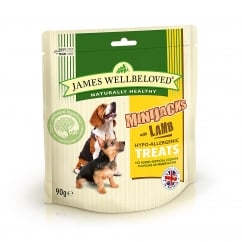 James Wellbeloved Mini Jacks Lamb Dog Treat 90g