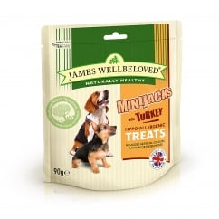 James Wellbeloved Mini Jacks Turkey Dog Treat 90g