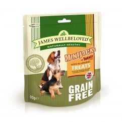 James Wellbeloved Minijacks Grain Free Turkey Dog Treat 90g