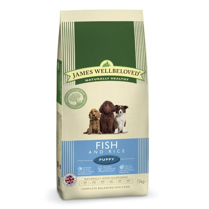 James Wellbeloved Puppy Fish & Rice Dog Food 15kg