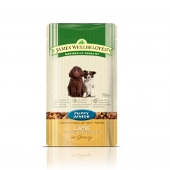 James Wellbeloved Puppy/Junior Lamb with Rice & Vegetable Pouch 150g