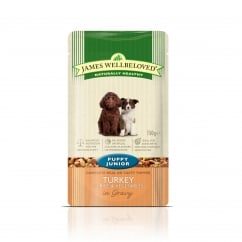 James Wellbeloved Puppy/Junior Turkey with Rice & Vegetable Pouch 150g