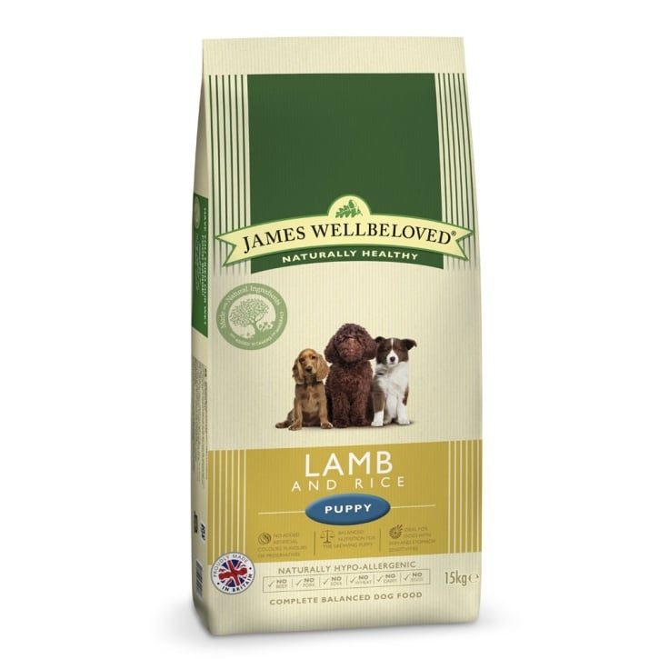 James Wellbeloved Puppy Lamb & Rice Dog Food 15kg