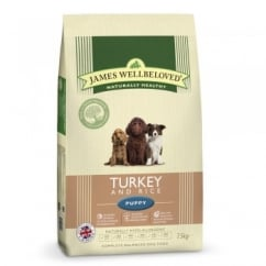 Puppy Turkey & Rice Dog Food 7.5kg