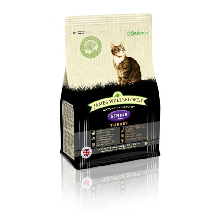 James Wellbeloved Senior Cat Turkey & Rice Cat Food 300g