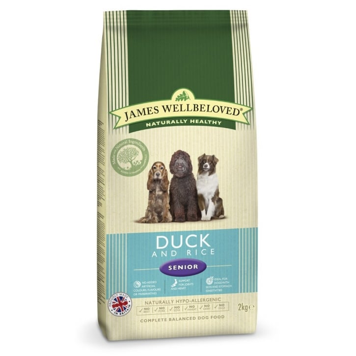 James Wellbeloved Senior Duck & Rice Dog Food 2kg