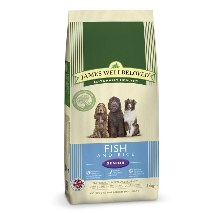 James Wellbeloved Senior Fish & Rice Dog Food 15kg