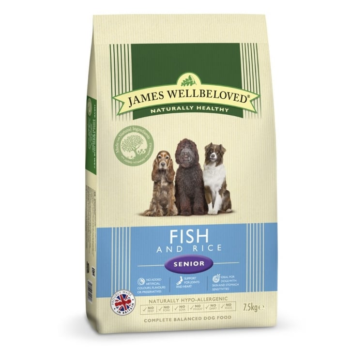 James Wellbeloved Senior Fish & Rice Dog Food 7.5kg