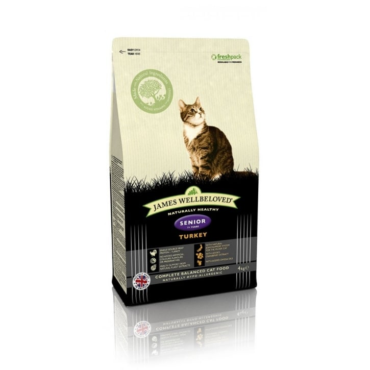 James Wellbeloved Senior Turkey & Rice Cat Food 4kg