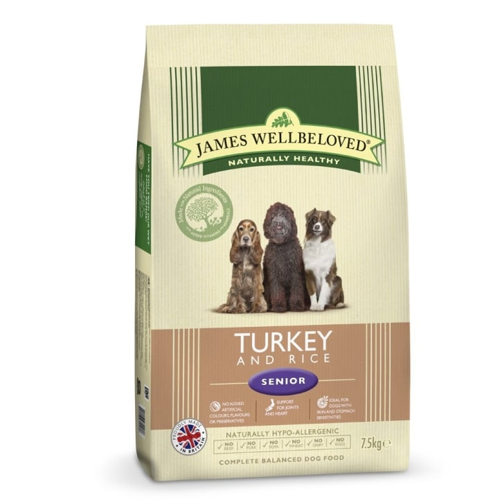 James Wellbeloved Senior Turkey & Rice Dog Food 7.5kg