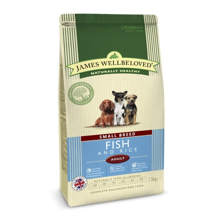 James Wellbeloved Small Breed Adult Fish & Rice Dog Food 1.5kg
