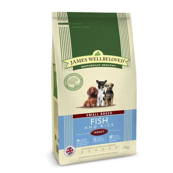 James Wellbeloved Small Breed Adult Fish & Rice Dog Food 7.5kg