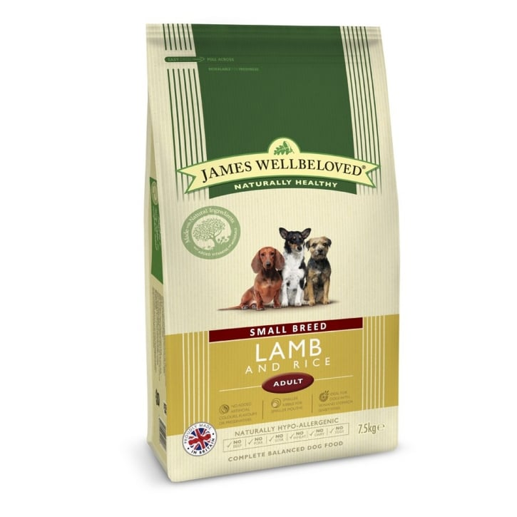 James Wellbeloved Small Breed Adult Lamb & Rice Dog Food 7.5kg