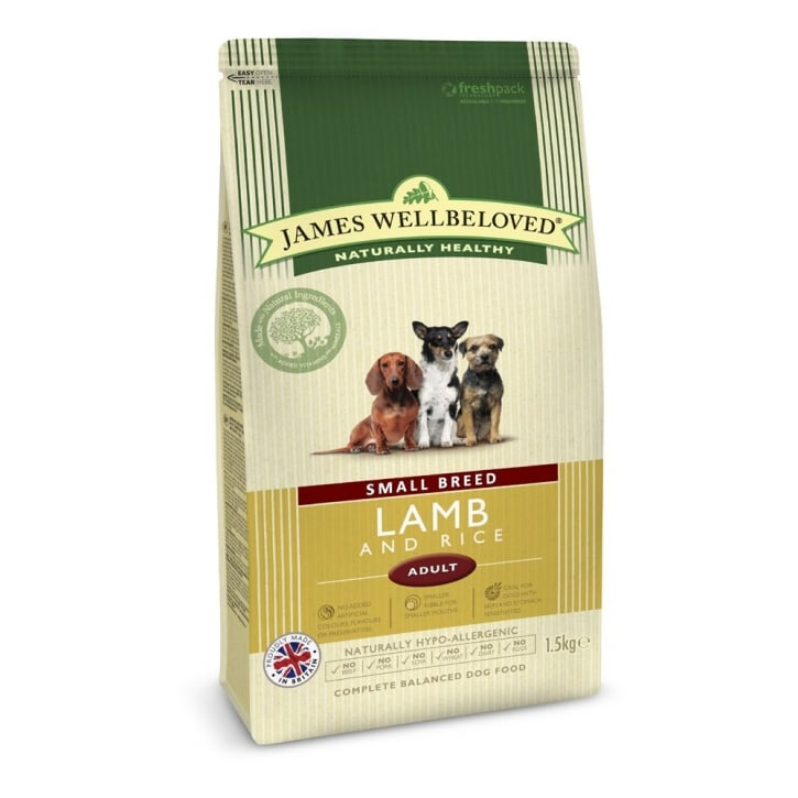James Wellbeloved Small Breed Lamb & Rice Adult Dog Food 1.5kg