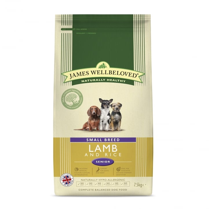 James Wellbeloved Small Breed Lamb & Rice Senior Dog Food 7.5kg
