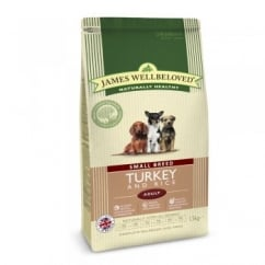 James Wellbeloved Small Breed Turkey & Rice Adult Dog Food 1.5kg