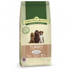James Wellbeloved Turkey & Rice Junior Dog Food 2kg