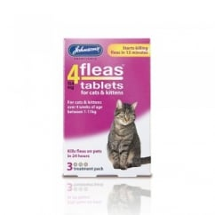 4 Fleas Tablets Cats & Kittens Pack 3