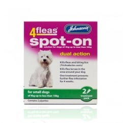 4Fleas Spot-on Dual Action for Small Dogs 2 Treatments