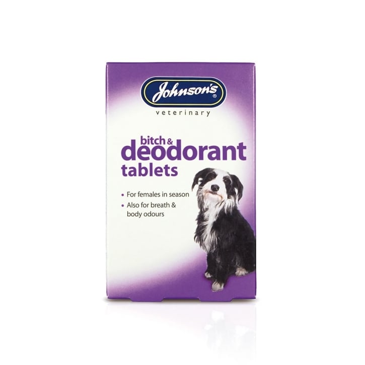 Johnsons Veterinary Bitch & Deodorant Tablets Pack 40
