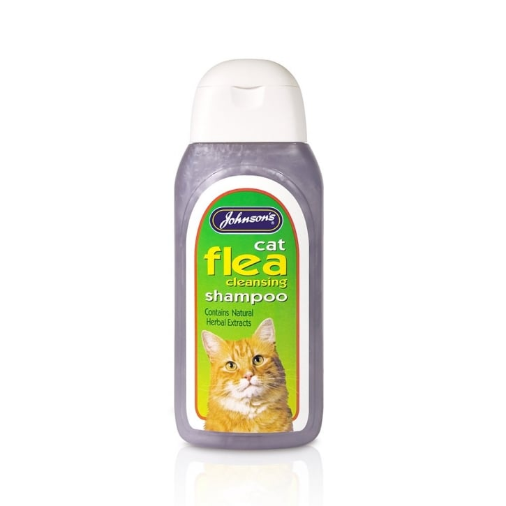 Johnsons Veterinary Cat Flea Repellent Shampoo 200ml