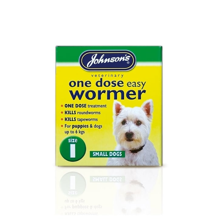 Johnsons Veterinary One Dose Easy Wormer For Puppies & Dogs Size 1