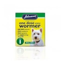 One Dose Easy Wormer For Puppies & Dogs Size 1
