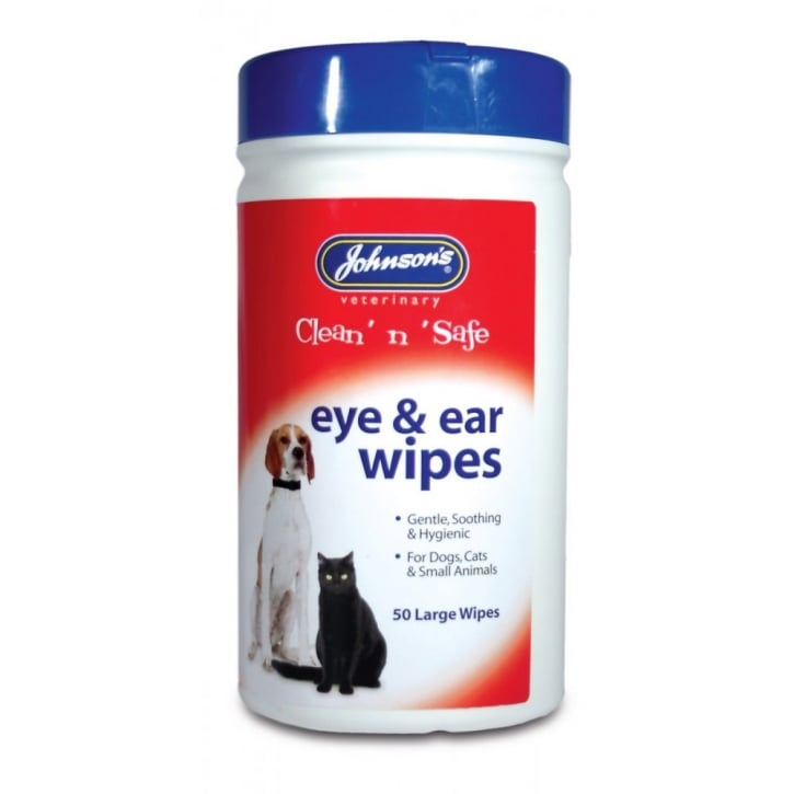 Johnsons Veterinary Clean 'n' Safe Eye & Ear Wipes Pack 50