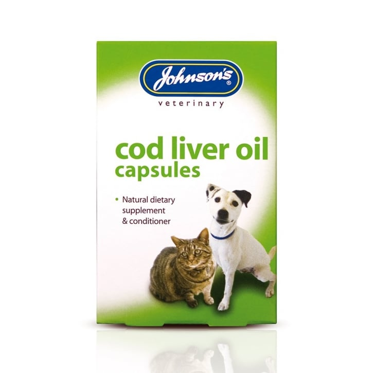 Johnsons Veterinary Cod Liver Oil Capsules Pack 40