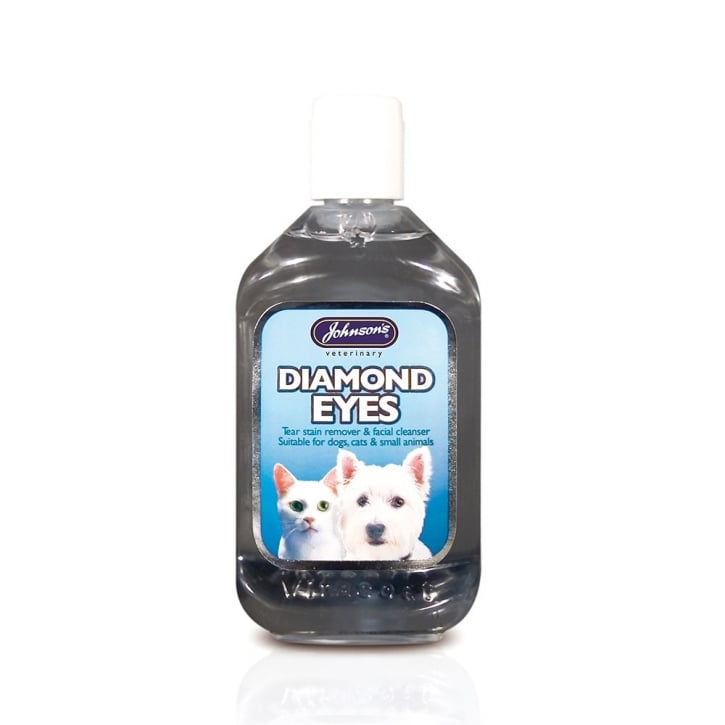 Johnsons Veterinary Diamond Eyes Tearstain & Facial Cleanser for Dogs & Cats 125ml
