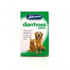 Johnsons Veterinary Dog & Cat Diarrhoea Tablets Pack 12